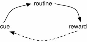 Habit Loop: Cue, Routine, Reward. Repeat.