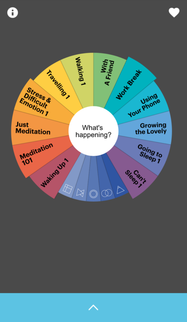 Buddhify wheel screenshot